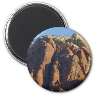 Red Rocks Sunrise Climbing Refrigerator Magnet