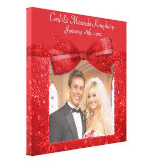 Red Romance Glitz & Shimmer Add A Photo Frame Up Canvas Print
