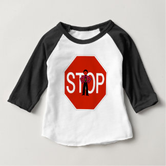 Red Ron Stop Sign Baby T-Shirt