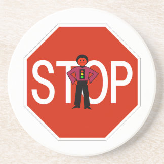 Red Ron Stop Sign Coasters