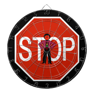 Red Ron Stop Sign Dartboard