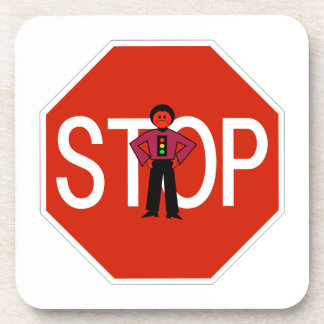 Red Ron Stop Sign Drink Coaster