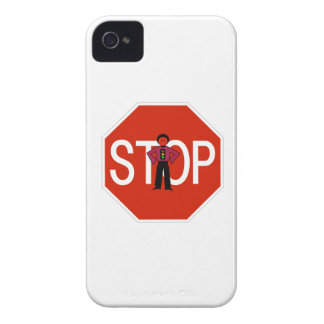 Red Ron Stop Sign iPhone 4 Case-Mate Case