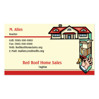 Red Roof Home Sales Business Card Templates