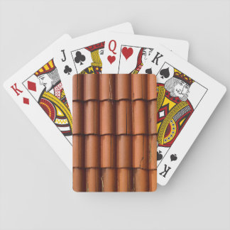 Red Roof Tiles Playing Cards