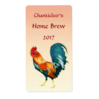 Red Rooster Bird Beer Labels