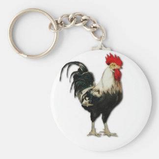 Red Rooster Chicken Customize Keychain
