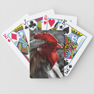 Red Rooster Color Spot Bicycle Playing Cards