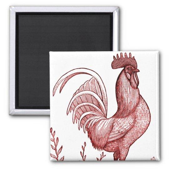 red rooster magnet 2