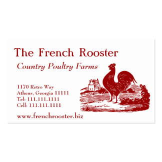 Red Rooster Poultry Farm Dairy Business Cards