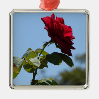 RED ROSE 2 CHRISTMAS ORNAMENT