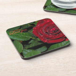 Red Rose #2 Drink Coasters