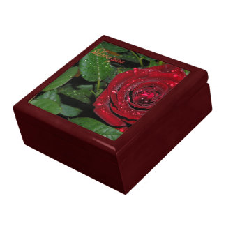 Red Rose #2 Large Square Gift Box