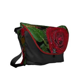 Red Rose #2 Messenger Bag