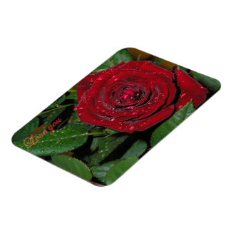 Red Rose #2 Rectangular Photo Magnet