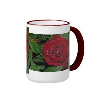 Red Rose #2 Ringer Mug