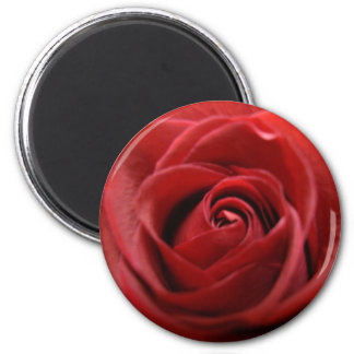 Red Rose 6 Cm Round Magnet