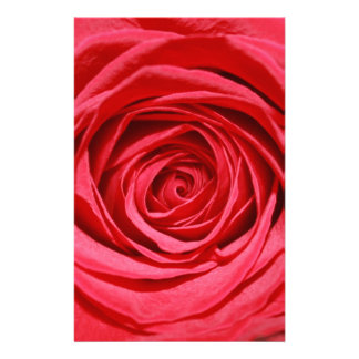 Red Rose Abstract Flower Petals Floral Patterns Customised Stationery