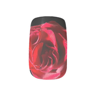 Red Rose accent Tip Minx Nail Art