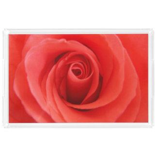 Red Rose Acrylic Tray