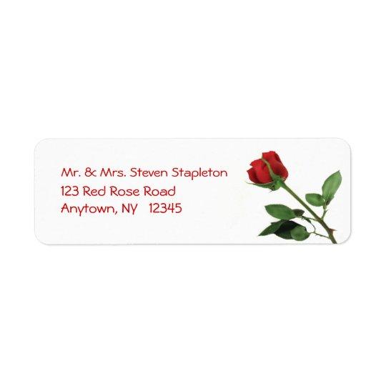 Red Rose Address Label