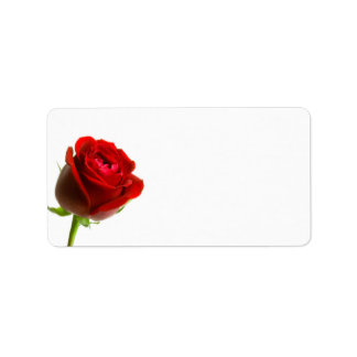 Red Rose Address Labels