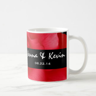 Red Rose and Black Floral Wedding Collection Coffee Mugs