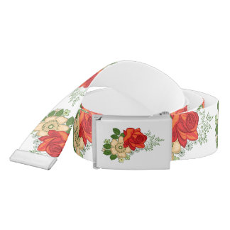 Red Rose and Daisies Belt