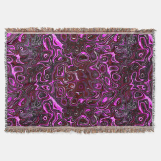 Red Rose and Pink Fire Stone Throw Blanket
