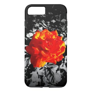Red rose Apple iPhone Tough Phone Case