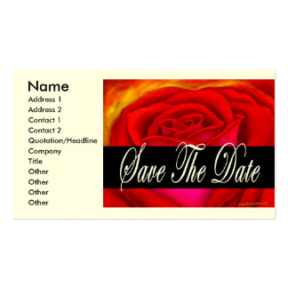 Red Rose Art Save The Date - Multi Business Card Template