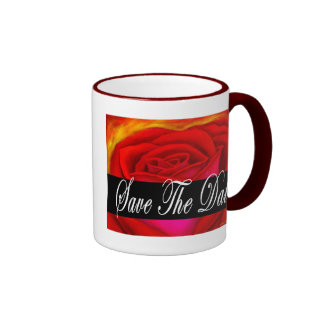 Red Rose Art Save The Date - Multi Coffee Mug
