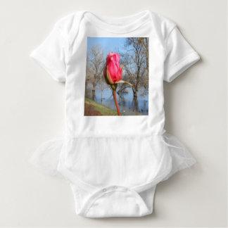 Red Rose Baby Bodysuit