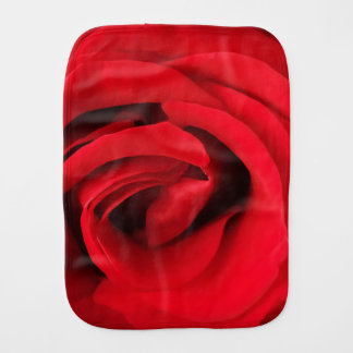 Red Rose Baby Burp Cloths