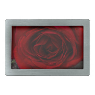 red rose background rectangular belt buckle