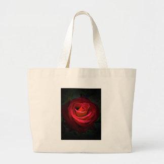 Red Rose Canvas Bag