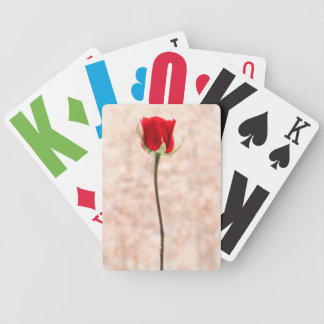Red Rose Bicycle Playing Cards