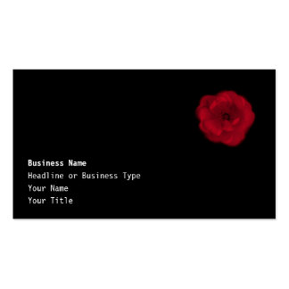 Red Rose. Black Background. Business Card Templates
