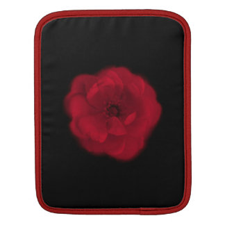 Red Rose. Black Background. Sleeve For iPads