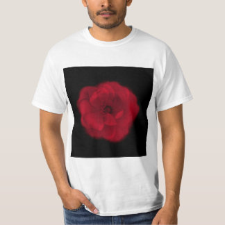 Red Rose. Black Background. T-shirts