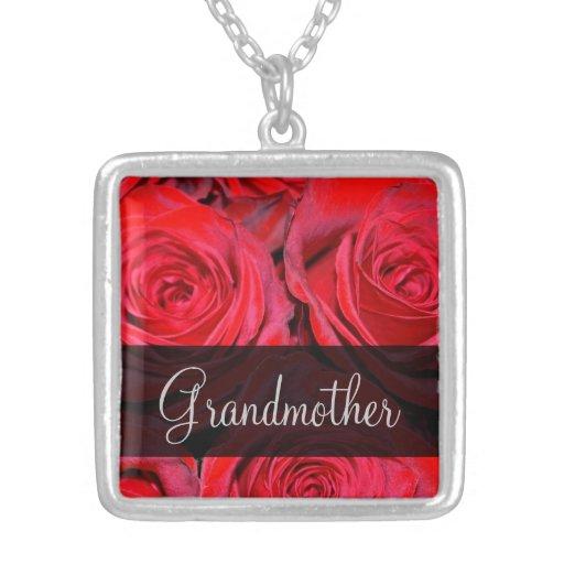 Red Rose Black Grandmother Pendant