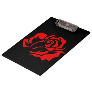 Red Rose Bloom Customizable Clipboard