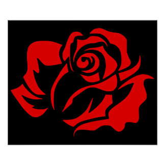 Red Rose Bloom Customizable Poster