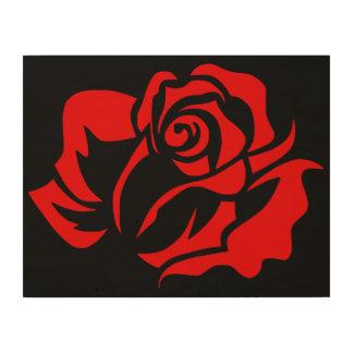 Red Rose Bloom Customizable Wood Prints
