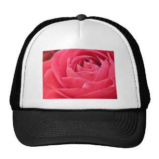 Red Rose Bloom Mesh Hats