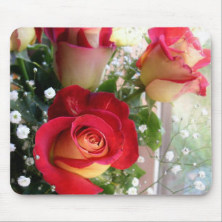 Red Rose Bouquet Photography Mouse Mat