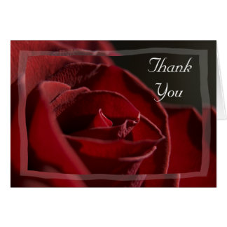 Red Rose Bridesmaid Thank You Card