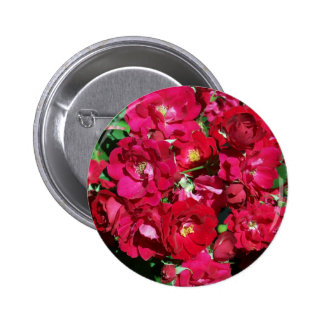 Red Rose Bush Button