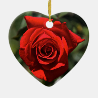 Red Rose Ceramic Heart Decoration