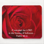 Red Rose Closeup Mouse Pads